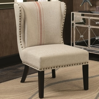 orange living room chair colour ideas 2016 uk buy wingback chairs online at overstock design armless accent with decorative nailhead trim
