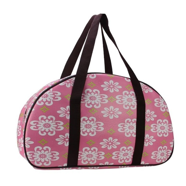 """Shop 20"""" Decorative Pink and White Flower Design Travel"""