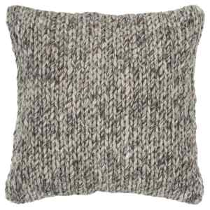 Rizzy Home Donny Osmond Chunky Knit Natural/Brown Wool 20-inch x 20-inch Throw PIllow