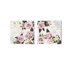 Dianne Miller 'Ephemeral Roses' Canvas Art (Set of 2)