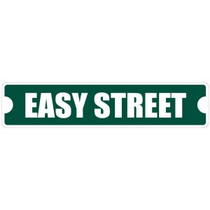 "Easy Street Sign 4"" x 18"" Metal Novelty Street Sign"