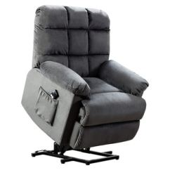 Recliner Chairs Cheap X Desk Chair Buy Size Oversized Lift Rocking Recliners Bonzy With Stuffed Armrest Comfort Broad Backrest Gray