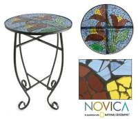 Stained Glass Tulip Temptation Table (Mexico) - Overstock ...