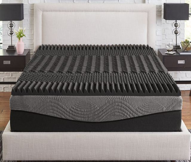 Shop Slumber Solutions Active 2  Zone Charcoal Memory Foam Topper Free Shipping Today Overstock 23015841