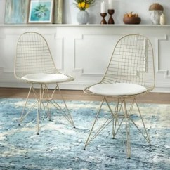 White And Gold Chair Desk Swivel Buy Finish Kitchen Dining Room Chairs Online At Simple Living Eiffel Wire Set Of 2