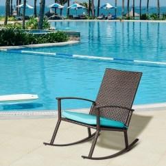 Rattan Wicker Rocking Chair Cushion Ebay Eames Shop Kinbor Handmade Pe Rocker Armchair All Weather Outdoor Seat W