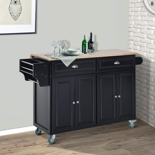 wheeled kitchen island cabinet buy portable islands online at overstock com our best homcom wood top drop leaf multi storage rolling table cart with