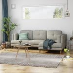 Hollyhock Contemporary Button Tufted Upholstered 3 Seater Chaise Lounge Sofa Set With Turned Legs By Christopher Knight Home