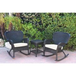 Black Wicker Rocking Chair Outdoor White Bedroom Shop Windsor Rocker And End Table Set With Cushion