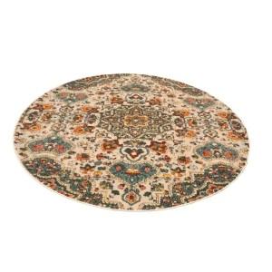 Blossom echo Vintage Area Rug - multicolour - 4'9