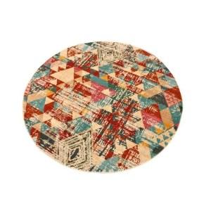 Geometric vibrant Vintage Area Rug - multicolour - 4'9