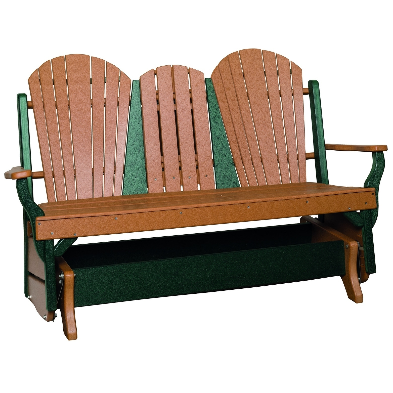 outdoor glider bench w center drop down table