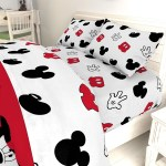 Disney Mickey Mouse Cute Faces 4 Piece Twin Bed Set Overstock 23119192
