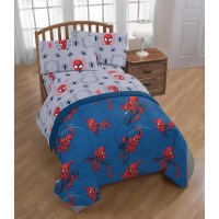 Shop Marvel Spiderman Spidey Crawl 4 Piece Twin Bed Set ...