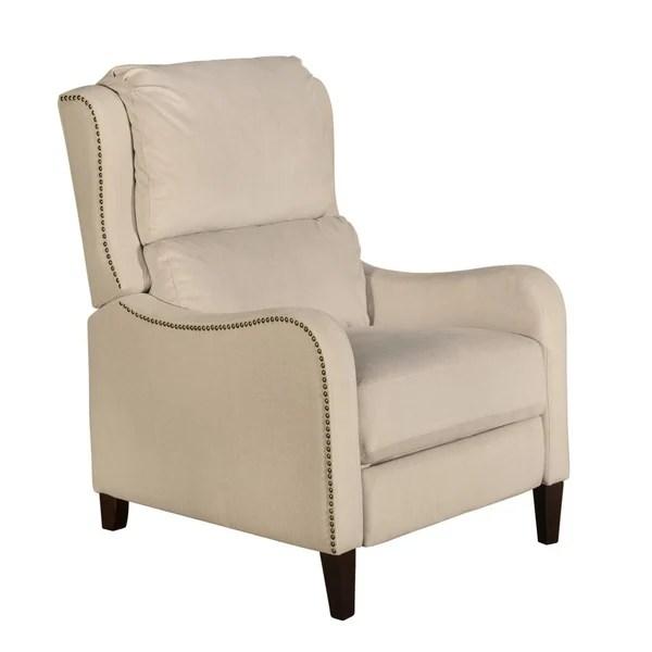 modern recliner chair stand up shop tommy hilfiger eddington with nailheads
