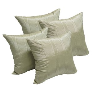 Moire Moss 17-inch Accent Throw Pillow (Set of 4)