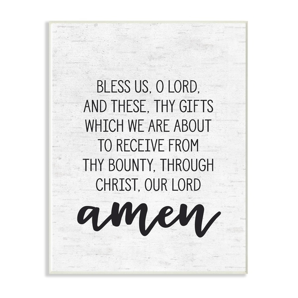 Shop The Stupell Home Décor Collection Bless Us O Lord