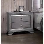 Furniture Of America Taia Contemporary Grey Solid Wood Nightstand