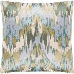 Shop Virgil Light Blue Embroidered Ikat Throw Pillow Cover 18 X 18 Overstock 23144047