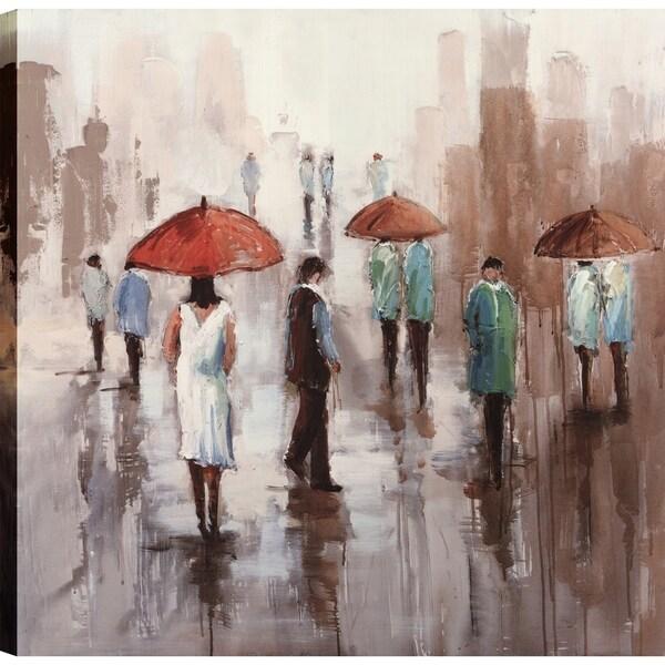 shop artmaison canada umbrella rainy day ii canvas print wall art