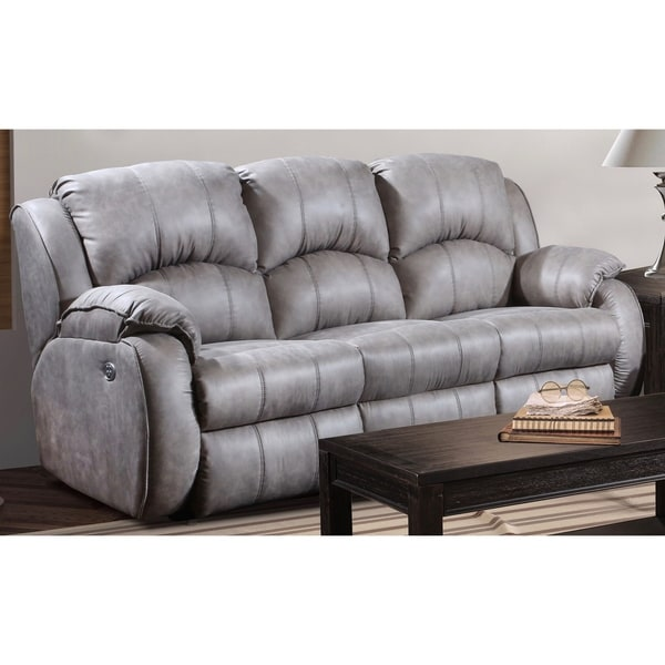 power recliner sofa canada brown leather sectional shop southern motion s cagney headrest double reclining x27