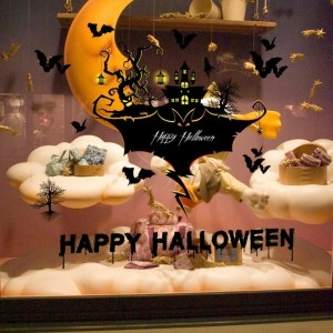 Happy Festival Halloween Decoration Cartoon Wall Sticker for Home Decoration