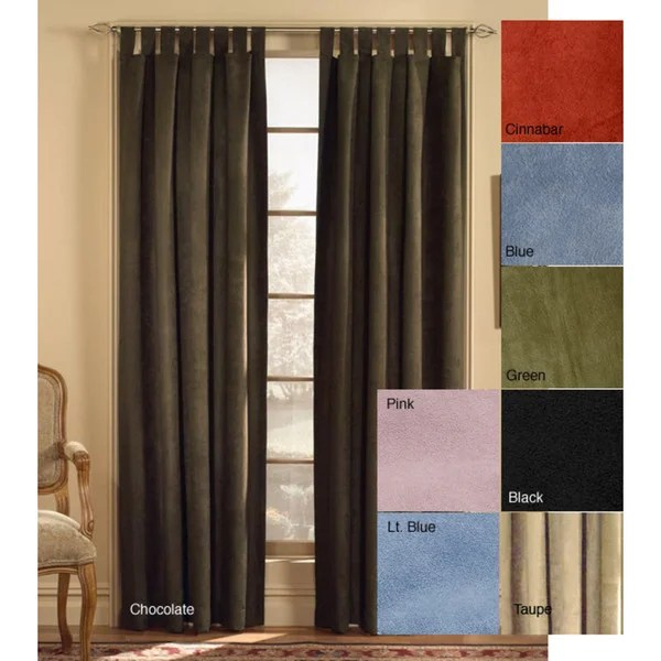 Microsuede Tab Top 63 Inch Curtain Panel Free Shipping On Orders Over 45