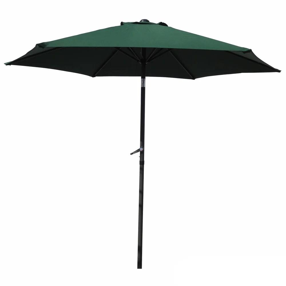 international caravan st kitts 8 foot crank and tilt patio umbrella