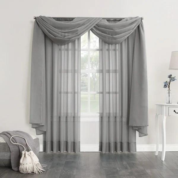 sheer curtain scarf cheaper than retail