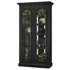 Tall Living Room Cabinets Light Blue Accent Walls In Shop Howard Miller Chasman Iii Black Solid Wood 5 Shelf Cabinet Free Shipping Today Overstock Com 23449322