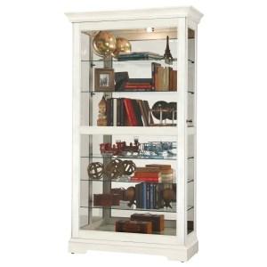 Howard Miller Tyler IV White Wood/Glass Large Tall 7-shelf Living Room Curio Cabinet