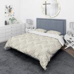 Designart Zigzag Background Minimal Striped Design Scandinavian Bedding Set Duvet Cover Shams On Sale Overstock 23506341