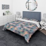 Designart Summer Colorful Hawaiian Pattern With Tropical Plants Tropical Bedding Set Duvet Cover Shams Overstock 23506358