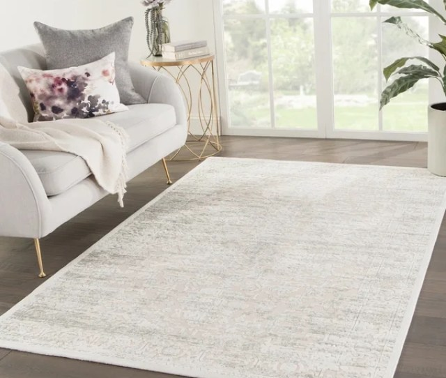 Lilith Medallion Beige Gray Green Area Rug 810