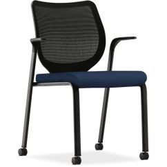 Hon Ignition Fabric Chair Boss Modern Office White Shop Centurion Navy Free Shipping Today