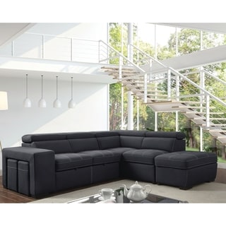 suede living room furniture paint pictures faux find great deals of america alek gray microfiber sleeper sofa sectional