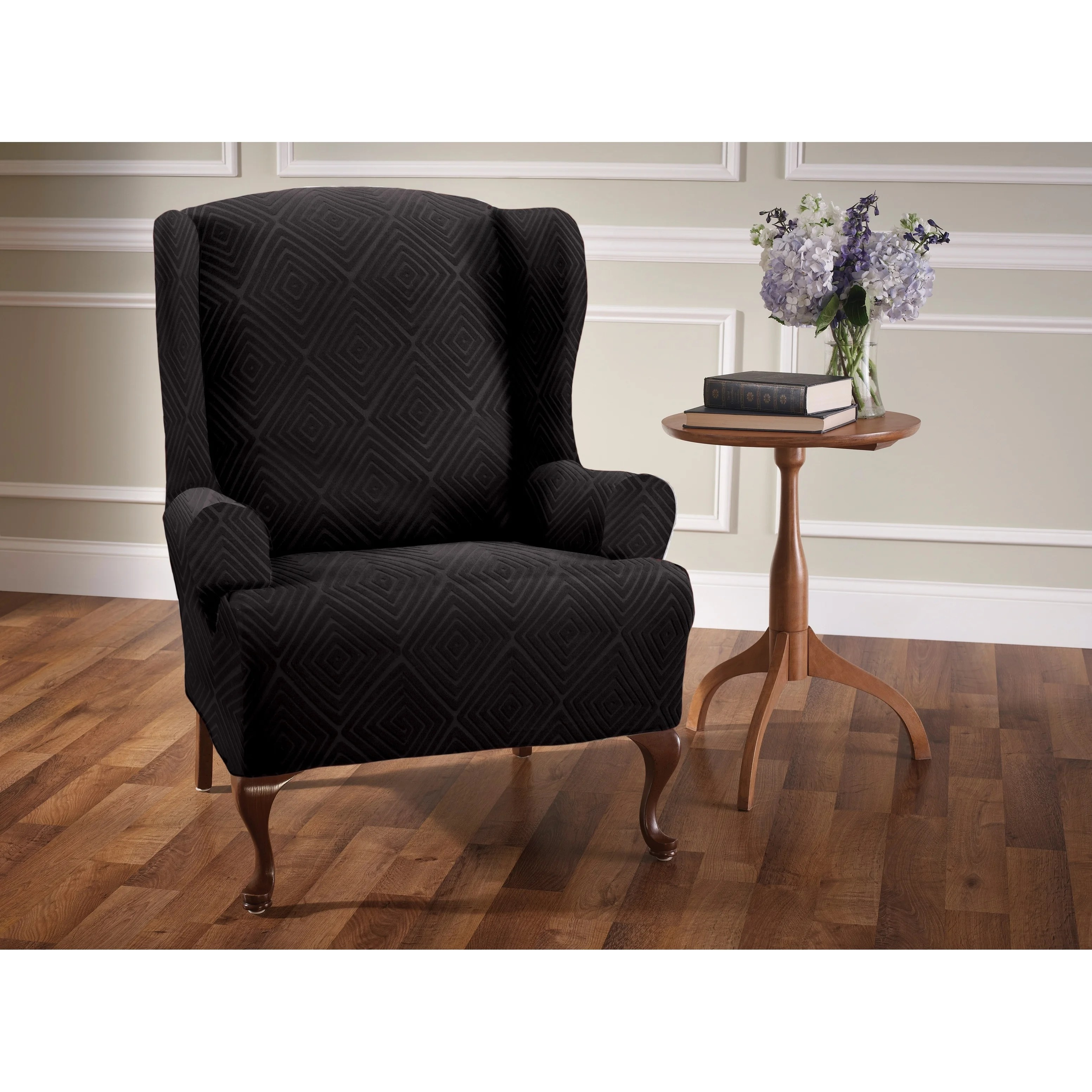 chair covers overstock round kitchen table and chairs walmart buy recliner wing slipcovers online at