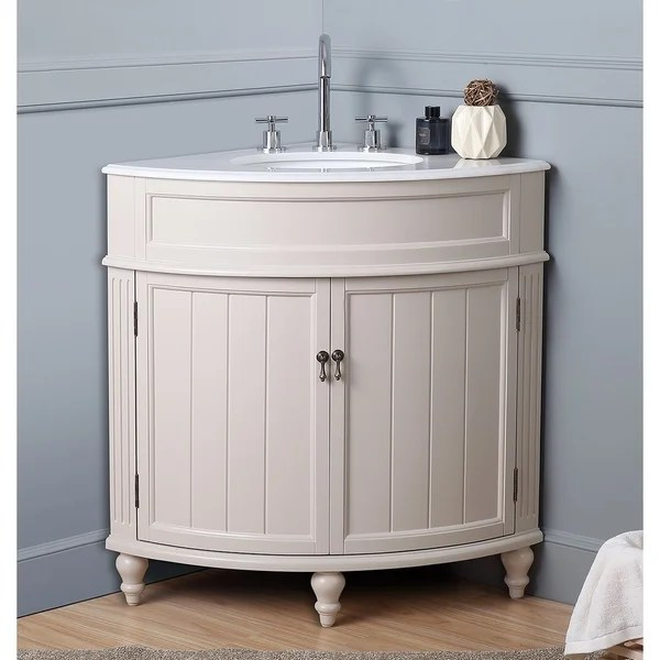 Shop 24 Benton Collection Thomasville Taupe Corner Bathroom Sink Vanity Overstock 23566712