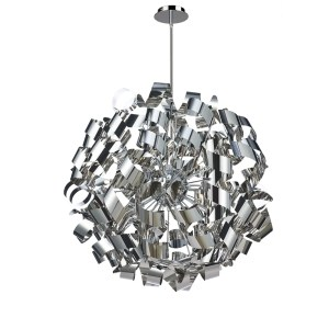 Artcraft Lighting Bel Air Brushed Aluminum 12-light Chandelier