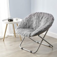 Folding Chair For Living Room Coleman With Table Chairs Furniture Find Great Deals Faux Fur Moon Dark Gray