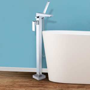 Bolzano Floor Mounted Freestanding Tub Filler - Chrome