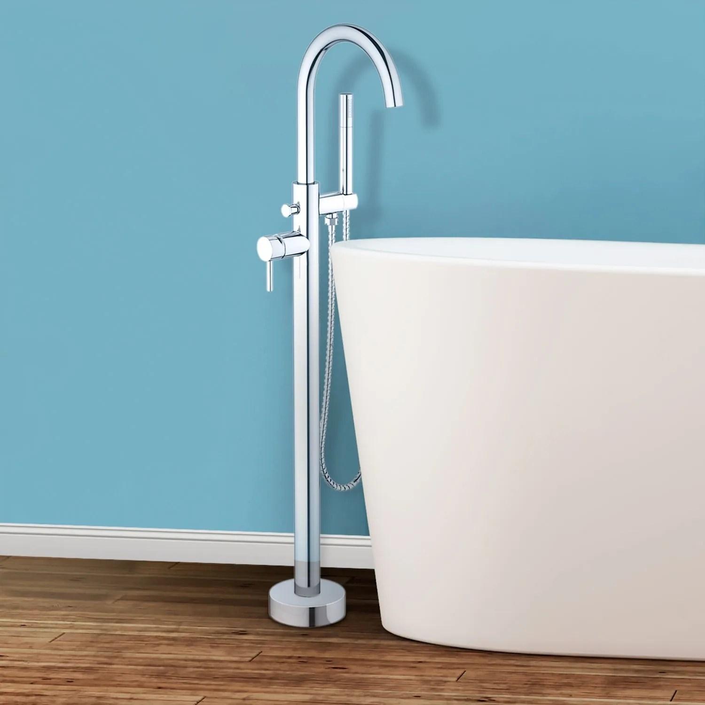 Sorrento Floor Mounted Freestanding Tub Filler - Chrome