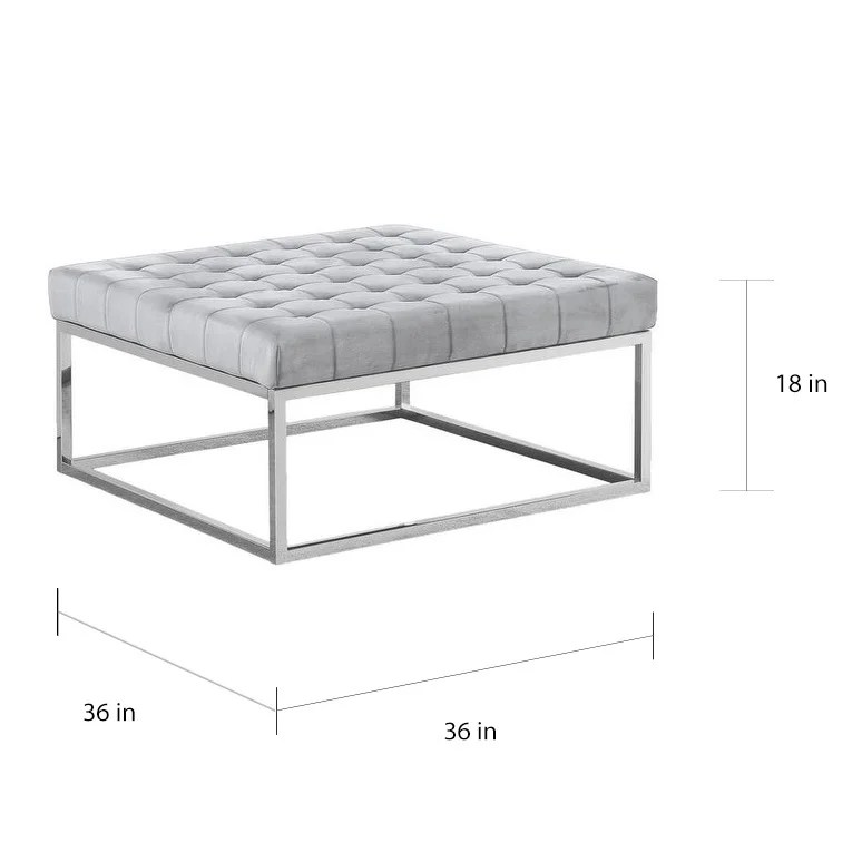 best master furniture grey silver ottoman coffee table