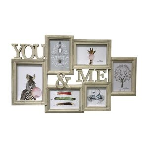 Creative Motion 6 Decorative Photo Frames with Wood Grain Finish