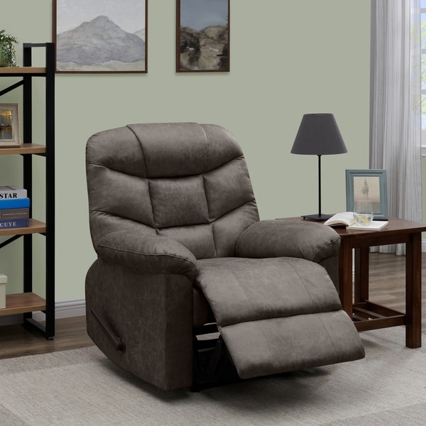 wall hugger recliner chair tables and chairs for restaurant shop prolounger grey distressed faux leather