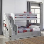 Shop Black Friday Deals On Copper Grove Dugaresa Grey Wood Twin Over Full Bunk Bed With Steps And Lower Storage Drawers Overstock 24079063