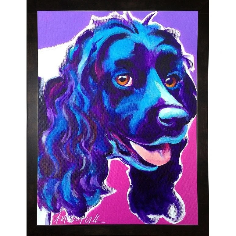 "Cocker Spaniel Dixie-DAWART145117  Print 14""x10.5"" by DawgArt"