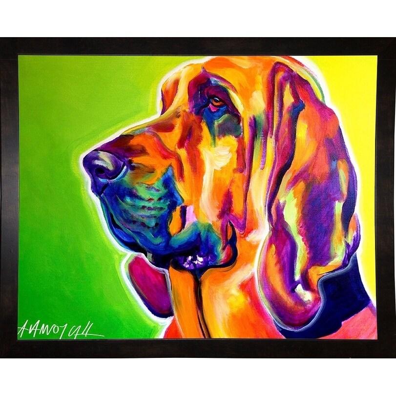 "Bloodhound-DAWART145114  Print 11""x14"" by DawgArt"