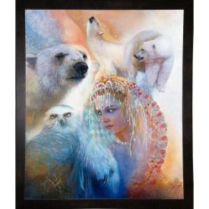 "Aurora Borealis-DENLUN14972  Print 10""x8.25"" by Denton Lund"