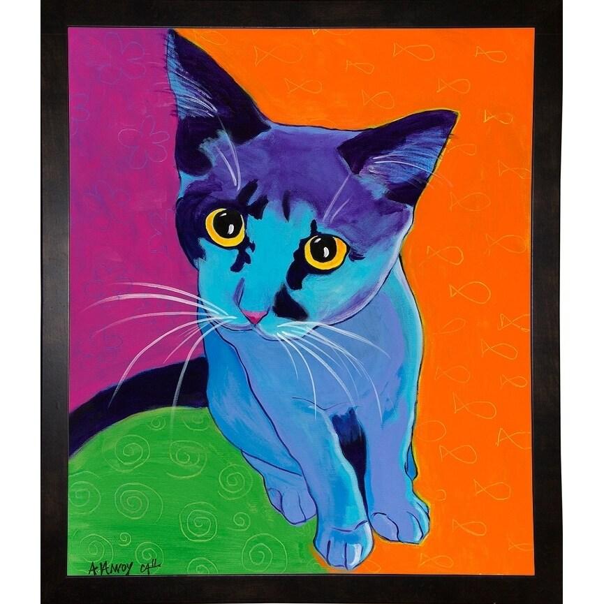 "Kitten Blue-DAWART121949  Print 31""x26.5"" by DawgArt"